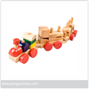 Wooden Train Toy with Blocks, Kids Wooden Toy Train with Building Blocks