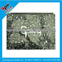 printed zip lock document bag/zip closure document bag