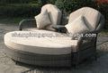 屋外の籐の豪華なソファ家具サンシェード