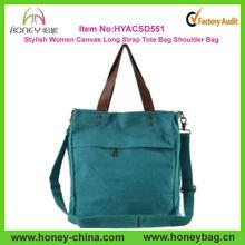 Durable Stylish Canvas Woman Shoulder Bag Long Strap Woman Shoulder Bag