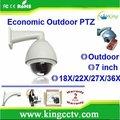 Ptz pelco 700 tvl 1/3' sony ccd ir impermeável cctv hk-gv8277 27x zoom cctv câmera da abóbada ptz