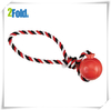 Tug Tossers with Rubber Ball Sex Dog Toy Dog Tug Rope Toy