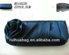 Noble rose flower lady's satin evening bag