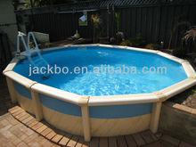 Ground swimming pool round steel frame pool
