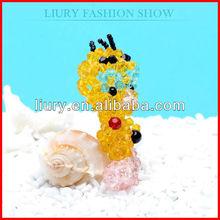 Rainbow shine crystal duck mobile phone pendant