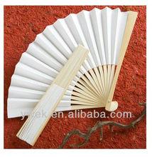 Wedding favors fans Elegant White Folding Fans