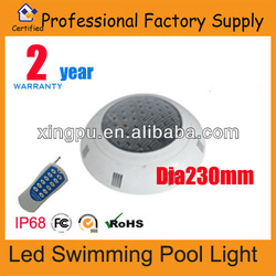 [HOT] 6W rgb remoter control swimming pool led light, surface mounted,IP68