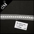 venta al por mayor decoratative blanco de nylon de la cinta elástica rb0169 trim