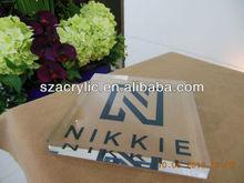 Solid clear acrylic logo brand block