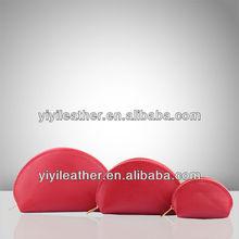 F001-new fashion design a three piece pu cosmetic bag
