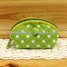 2013 Hong Kong Gift & Premium Fair Japan Fu-ka brand Trendy Polka dot Green Mini Zipper Bag
