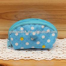 2013 Hong Kong Gift & Premium Fair Japan Fu-ka brand Trendy Polka dot Blue Mini Zipper Coin Case