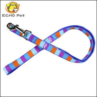 strong nylon dog leash with grid printed