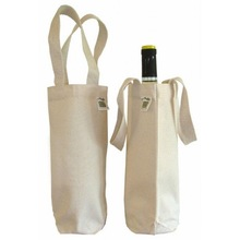 custom design promotional single bottle canvas wine bag
