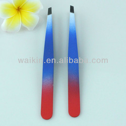 Wholesale Stainless Steel Eyebrow Tweezers Slant Design