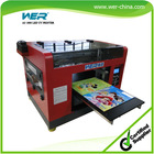1800 A3 size for any hard materials printing with Epson DX5 and eight colors multifunction digital flatbed printer for sale