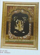 24k gold foil picture 3d indian god