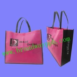 beautiful logo printed shopping pp non woven bags