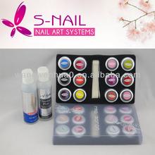 Hot sell popular UV builder gel kit , Nail Art UV gel kit ,gel nails for salon