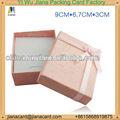rectangular de la cinta buttlefly necklance joyas caja de regalo impreso con el logotipo de arco