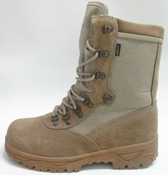 high-top lace up swat military boot split leather upper MD sole fit army boot desert boot