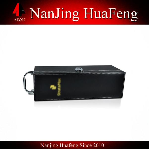 New Design custom luxury leather wine carrier