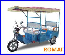 ROMAI 48V 850W 3 wheeler for passenger with DC brushless motor electric moped