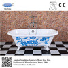 enamel bath,iron red bathtub,double ended antique cast iron bathtub