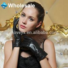 fashion sheep leather sheel women touchscreen leather glove