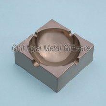 Square hollow metal ashtray