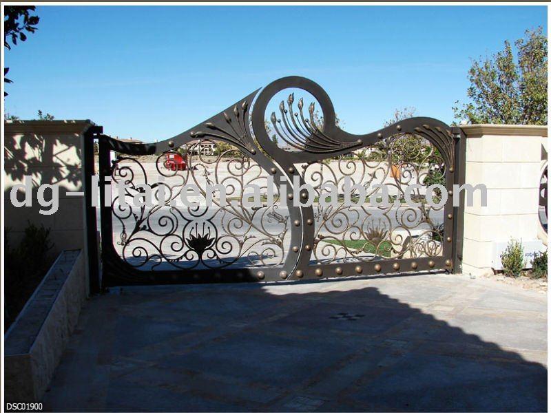 Porte D'entrée en Bois Entrée en Fer Forgé Portes