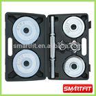 10 kg dumbbell mini set with chromed regular bar and adjustable plates factory OEM dumbbell set
