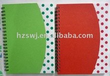 2011 new recycled notebook/Recycled spiral notebook with pen
