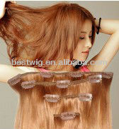 20-26 Inches Blonde and light brown Color Hair Extension piece