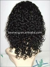 Fashion loose curl human hair full lace wigs accept Paypal