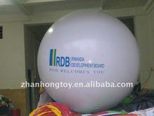 2014 white big helium balloon pvc balloon giant balloon