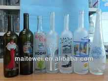 Custom made Glass Liquor Bottles