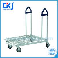 XYT-023L Heavy Duty Steel Zinc plated / Powder Coating Supermarket flat trolley