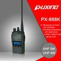Puxing px-888k de doble banda de radio transceptor 5 tono