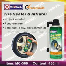 Tire Sealer & Inflator, Tubeless Tire Repair Spray 450ml