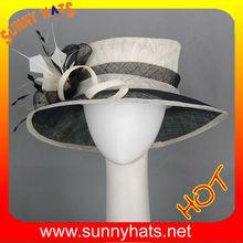 New fancy Sinamay summer Church Hat Wholesale