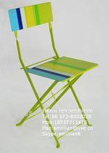 cheap screen painted metal folding garden chair