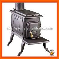 Indoor cast iron wood burning stove