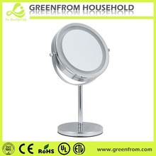 Sliver standing magnifying two way mirror glass