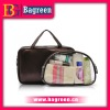 PU Travel Toiletries Bag With Waterproof PVC Pouch Inside