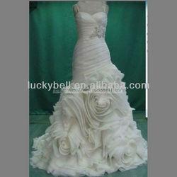 2014 New Arrival Dubai Custom-made White Real Picture Wedding Dress