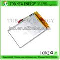 3.7v 1800 plana mah li-ion batería para tablet pc