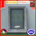 estándar de australia as2047 certificado de fabricación de ventanas de aluminio y ventana abatible con energía eficiente de doble acristalamiento