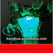 plastic fiber optic wall art lighting