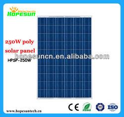 250W Poly solar module,PV panels solar photovoltaic panel